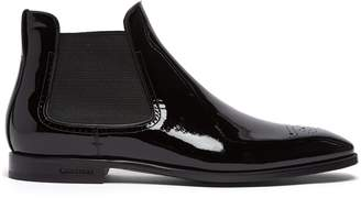 Burberry Patent Chelsea boots