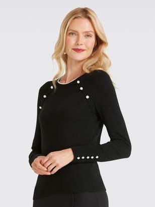 Draper James Pearl Long Sleeve Sweater