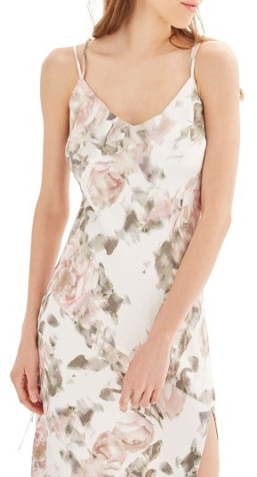 Topshop Women's Topshop Bride Asymmetrical Slipdress