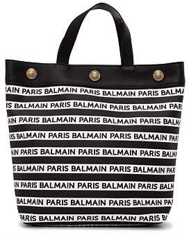 Balmain Ns Shopping Tote Ribbon Logo