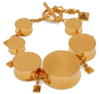 Valentino Rockstud Embellished Bracelet - Womens - Gold
