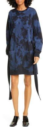 Proenza Schouler PSWL Tie Dye Long Sleeve Sweatshirt Dress