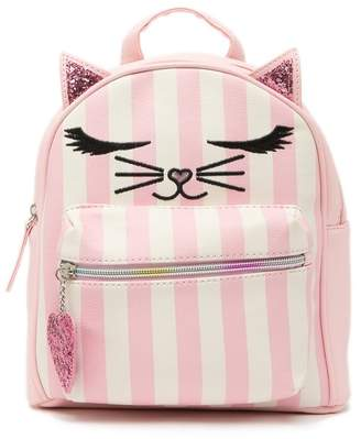 OMG! Accessories Striped Kitty Critter Mini Backpack