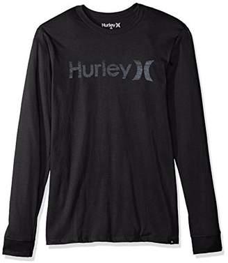 Hurley Men's One & Only Push Thru Graphic Long Sleeve Tee Shirt T-Shirt