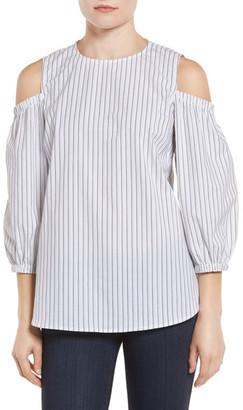 Bobeau Cold Shoulder Blouse (Petite) $59 thestylecure.com