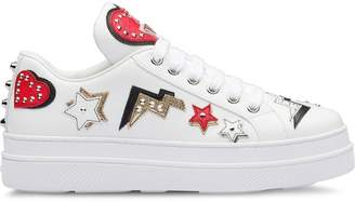 Prada hearts patch sneakers