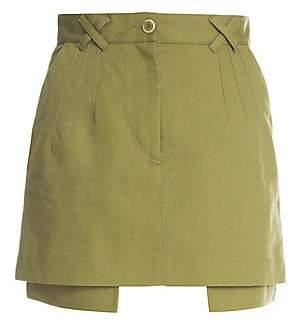 Off-White Women's Layered Army Mini Skirt