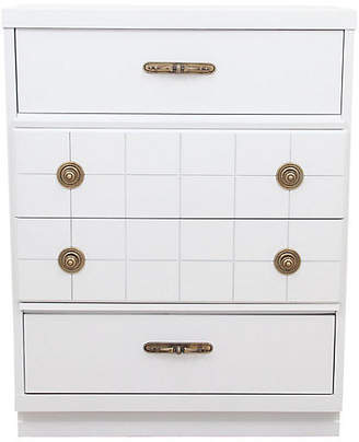 One Kings Lane Vintage Midcentury Style White Chest of Drawers