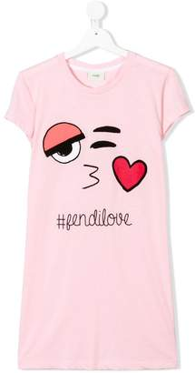 Fendi Kids TEEN love T-shirt