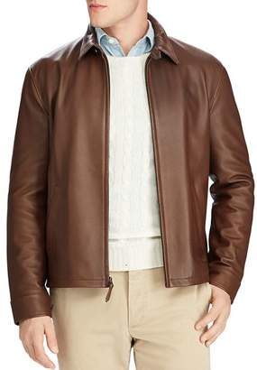 Polo Ralph Lauren Maxwell Lambskin Leather Zip Jacket