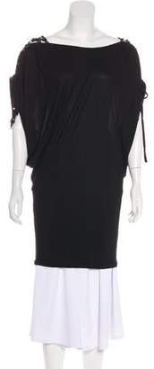 Temperley London Lace-Up Draped Top