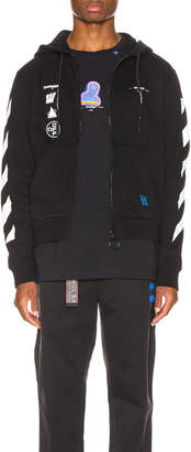 Off-White Off White Mariana Zipped Hoodie in Black Multi | FWRD