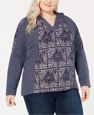 Style&Co. Style & Co Plus Size Cotton Waffle-Knit Hoodie Sweatshirt