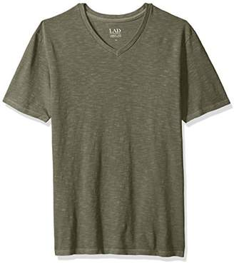 Life After Denim Men's Short Sleeve Slim Fit Cotton Slub V-Neck T-Shirt