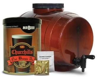 Mr. Beer Churchills Nut Brown Ale Craft Beer Making Kit with Convenient 2 Gallon Fermenter Designed for Simple and Efficient Homebrewing