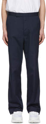 Thom Browne Navy Stripe Unconstructed Trousers