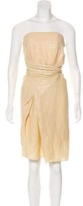 Alexander Wang Sequined Knee-Length Dress Yellow Sequined Knee-Length Dress