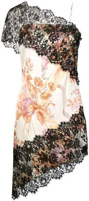 Christopher Kane valence and lace trim dress