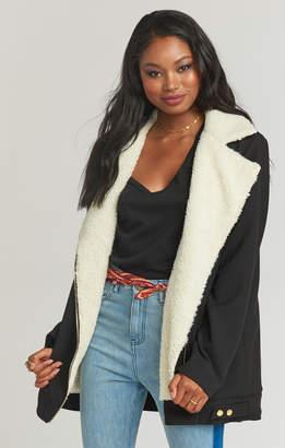 Show Me Your Mumu Elisha Sherpa Jacket ~ Black Corduroy