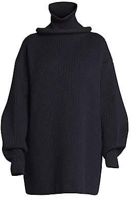 Balenciaga Women's Ring Turtleneck Wool Knit Sweater