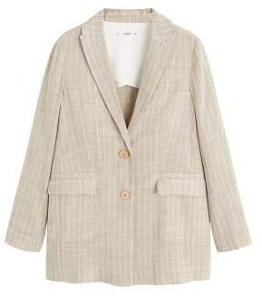 MANGO Striped blazer