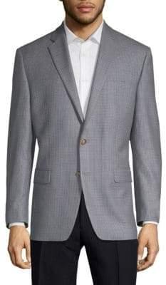 Lauren Ralph Lauren Wool Silk Check Sport Jacket