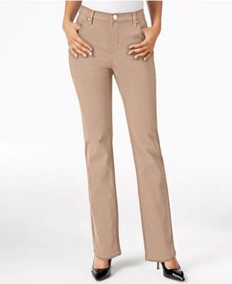 Lee Platinum Petite Gwen Straight-Leg Jeans, A Macy Exclusive