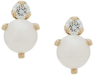 Chicco Zoë 14kt yellow gold diamond and pearl studs