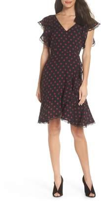 BB Dakota Ring the Alarm Printed Dot Fit & Flare Dress