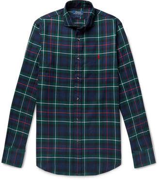 Polo Ralph Lauren Slim-Fit Checked Brushed-Cotton Shirt