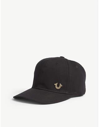 True Religion Logo cotton snapback cap