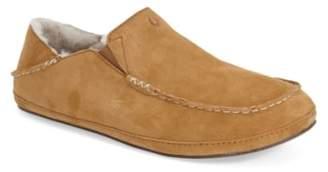 OluKai 'Moloa' Genuine Shearling Slipper
