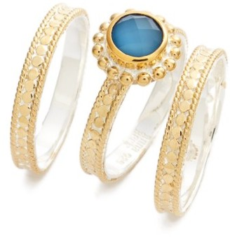 Women's Anna Beck Blue Quartz Set Of 3 Stack Rings $285 thestylecure.com