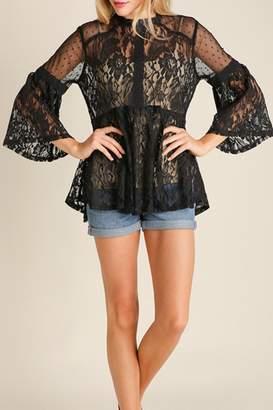 Umgee USA Lace Vintage Bohemian Top