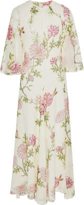 Giambattista Valli Floral-Print Silk-Chiffon Midi Dress