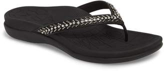 Aetrex Jules Crystal Embellished Water Friendly Flip-Flop