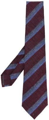 Kiton striped woven tie