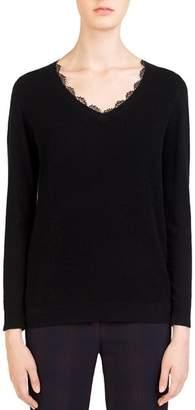 Gerard Darel Chloé Lace-Trim Sweater
