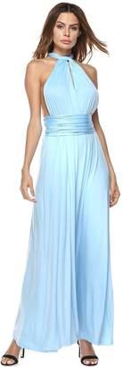Choies Women's Convertible Maxi Dress Multi-way Strap Maxi Dress M