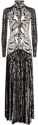Roberto Cavalli Lurex Lynx Gown