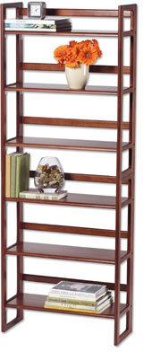 Chestnut Stackable Folding Bookcase