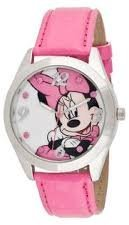 Disney Women's Minnie Mouse Pink Leather Band Watch MINAQ256 $29.99 thestylecure.com