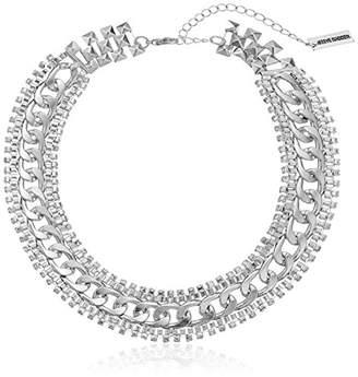 Steve Madden Rhinestone Chain-Link Necklace