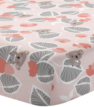 Lambs & Ivy Calypso with Leaf Print 100% Cotton Fitted Crib Sheet Bedding