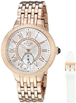 MOP GV2 by Gevril Astor Diamonds Womens Swiss Quartz Rose Gold Tone Stainless Steel Bracelet Watch