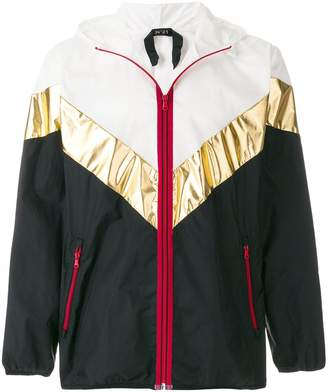 No.21 colour-block zipped jacket