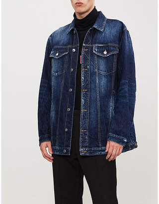 DSQUARED2 'Be Cool Be Nice' distressed denim jacket