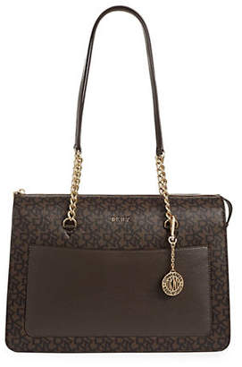 DKNY Large Bryant Zip Leather Tote