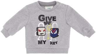 Fendi slogan sweatshirt