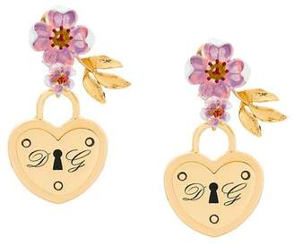 Dolce & Gabbana locket drop earrings